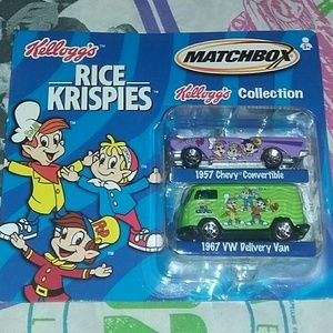 New 2001 Rice Krispies Matchbox Car Set Promo